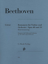 HAL LEONARD Beethoven, L.van: Romances, Op. 40 and 50 in G and F Major, urtext (violin & piano)