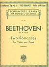 HAL LEONARD Beethoven, L.V. (Schradieck): Two Romances, Op.40, Op.50 (violin, and piano accompaniment)