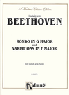 Alfred Music Beethoven, L. van: Rondo in G Major n Variations in F Major (violin and piano)