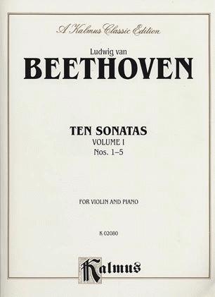 Alfred Music Beethoven, L von: Sonatas #1-5 (violin & piano)