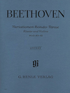 HAL LEONARD Beethoven, L.van (Brandenburg): Variations, Rondo, and Dances, urtext (violin & piano)