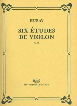 HAL LEONARD Hubay, Jeno: Six Etudes Op.63 (violin)