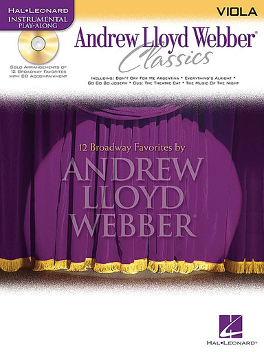 HAL LEONARD Lloyd Webber, Andrew: Classics (viola & CD)