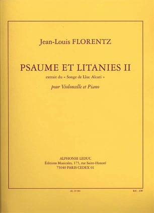 Florentz, Jean-Louis: Psaume et Litanies II - ''Songe de Lluc Alcari''(cello/piano)