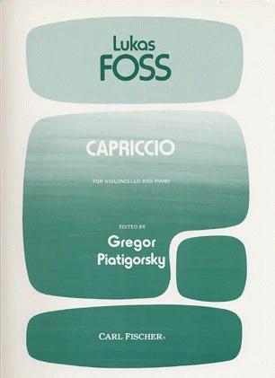 Carl Fischer Foss, Lukas: Capriccio (Cello & Piano)