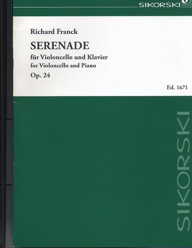 HAL LEONARD Franck, Richard: Serenade, Op. 24 (cello & piano)