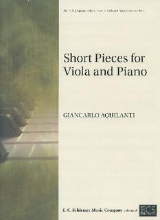 ECS Publishing Aquilanti, Giancarlo: Short Pieces for Viola and Piano