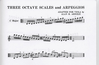 Arnold, Alan: Three Octave Scales & Arpeggios for Viola