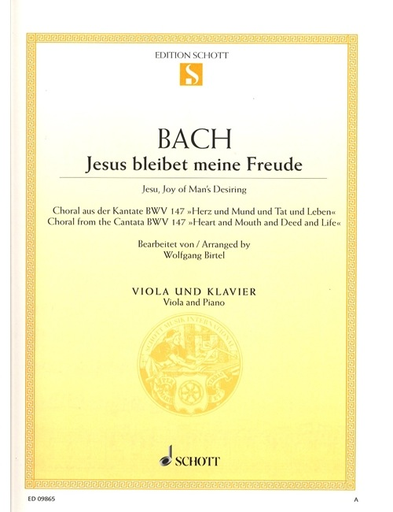 Bach, J.S.: Jesu Joy of Man's Desiring (viola & piano)