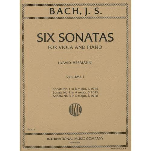 International Music Company Bach, J.S.: 6 Sonatas Vol.1 #1-3 (viola & piano)