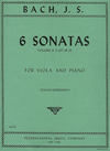 International Music Company Bach, J.S.: (David-Hermann) 6 Sonatas Vol.2, S.1017-18-19, #4-6 (viola & piano)