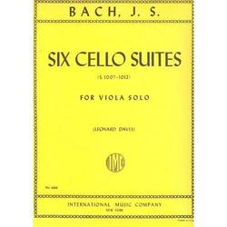 International Music Company Bach, J.S. (Davis): 6 Suites (viola)