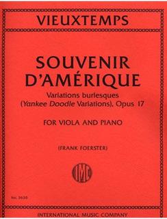 International Music Company Vieuxtemps, Henri: Souvenir d'Amerique, Yankee Doodle Var., Op.17 (viola/piano)