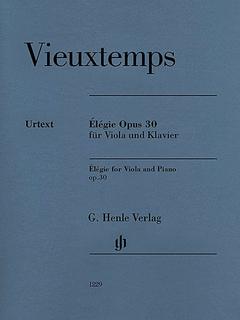 HAL LEONARD Vieuxtemps, H. (Jost): Elegie, Op.30 - URTEXT (viola & piano)