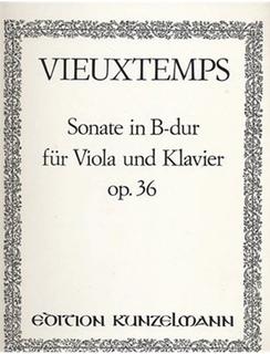 Vieuxtemps, Henri: Viola Sonata in Bb Major, Op. 36 (viola & piano)