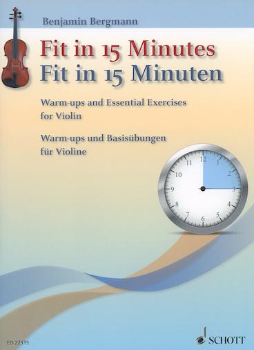 HAL LEONARD Bergmann: Fit In 15 Minutes (violin)