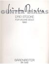 Barenreiter Bialas, Gunter: Drei Stucke fur Violin 3 Solo, 1993-Three Pieces for Violin Solo