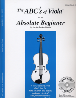 Carl Fischer Rhoda: The ABC's of Viola for the Absolute Beginner, Bk.1 (viola)(CD)