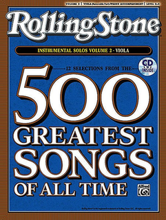 Alfred Music Rolling Stone Magazine: 500 Greatest Songs of All Time V. 2 (viola & cd)