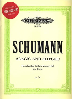 Schumann, Robert: Adagio & Allegro Op.70 (viola OR cello OR violin & piano & CD)