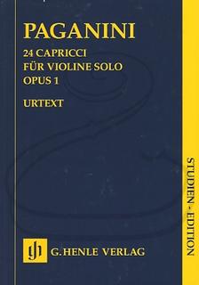 HAL LEONARD Paganini (Herttrich/Cantu/Barbieri): (study score) 24 Capricci for Solo Violin, Op.1 - URTEXT (violin) Henle Verlag