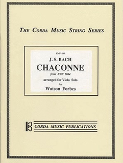 Bach, J.S. (Forbes): Chaconne (Viola)