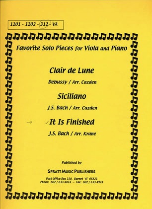 Bach, J.S. (Krane): It is Finished (viola & piano)