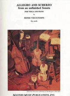 LudwigMasters Vieuxtemps, Henri: Allegro & Scherzo  from an unfinished Sonata (viola & piano)