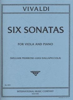 International Music Company Vivaldi, A. (Primrose): 6 Cello Sonatas transcribed (viola & piano)
