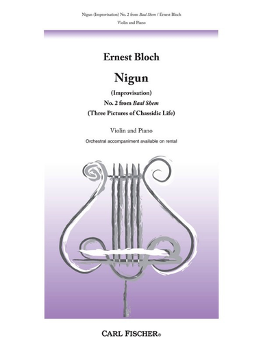 Carl Fischer Bloch: Nigun No.2 from Baal Shem (violin & piano) FISCHER