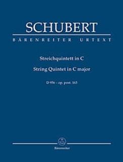Barenreiter Schubert, Franz (Chusid): SCORE String Quintet in C, D956 (string quintet) Bärenreiter Urtext