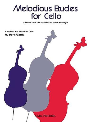 Carl Fischer Gazda, Doris: Melodious Etudes for Cello from the Vocalises of Marco Bordogni