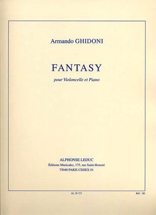 Ghidoni, Armando: Fantasy (cello & piano)