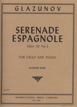 International Music Company Glazunov, Alexandre (Rose): Serenade Espagnole Op.20 #2 (cello & piano)