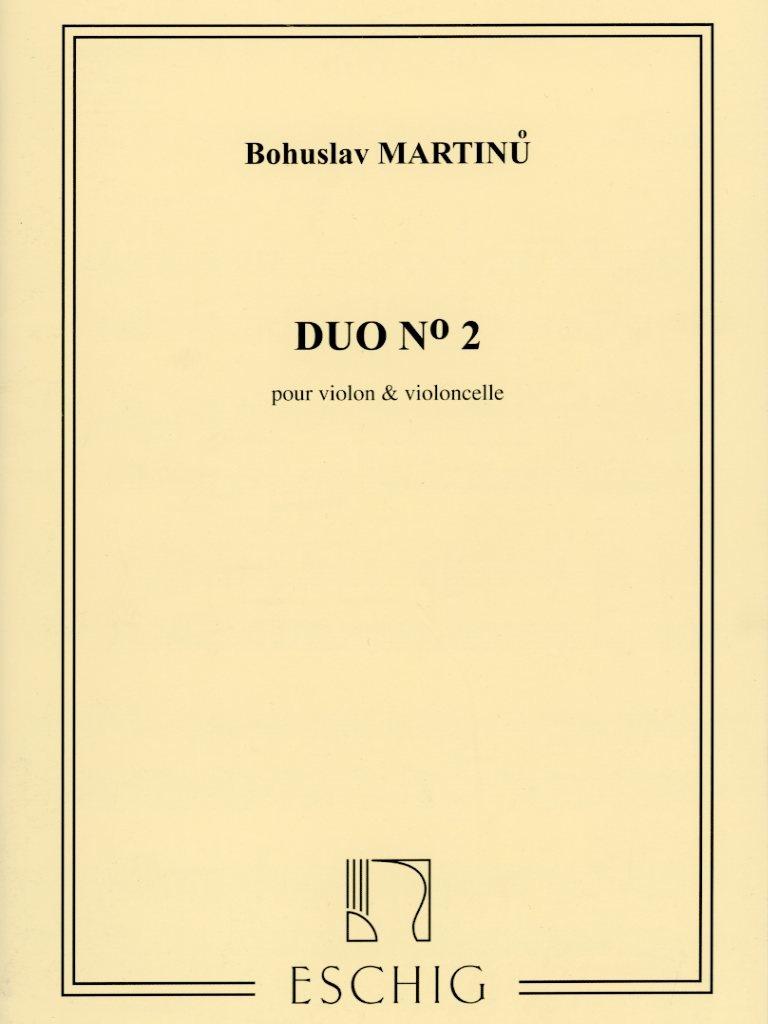 HAL LEONARD Martinu, Bohuslav: Duo #2 for Violin & Cello, Eschig