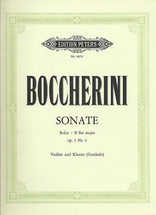 Boccherini, Luigi: Sonata Op.5#3 in Bb (violin & piano)
