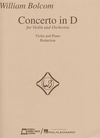 HAL LEONARD Bolcom, William: Concerto in D (violin & piano)