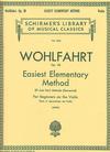 Schirmer Wohlfahrt: Easiest Method Op.38 (violin)