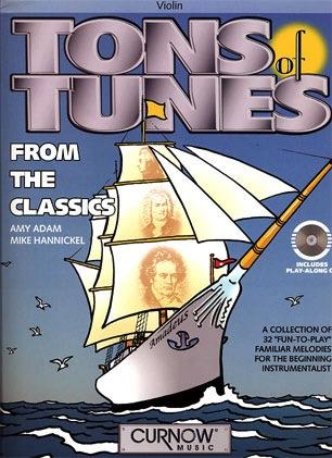 HAL LEONARD Adam, Amy & Hannickel: Tons of Tunes from the Classics (violin & CD)