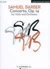 HAL LEONARD Barber, S.: (Score) Concerto, Op.14 (violin, and orchestra)