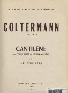 Galaxy Music Goltermann, Georg: Cantilene (cello & piano)