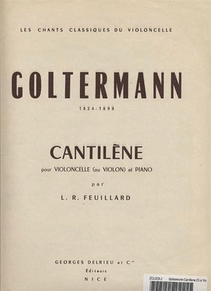 Galaxy Music Goltermann, Georg: Cantilene (cello & piano)
