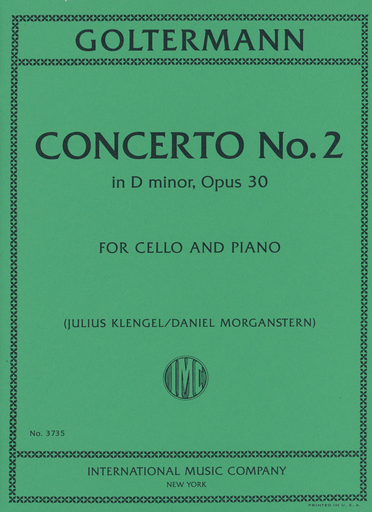 International Music Company Goltermann, G. (Klengel/Morganstern): Concerto No.2 in D minor, Op.30 (cello, and piano)