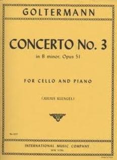 International Music Company Goltermann, Georg (Klengel): Concerto No.3 in B minor (cello & piano) IMC