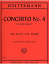 International Music Company Goltermann, G. (Klengel/Rose): Concerto #4 in G Op.65 (cello & piano) IMC