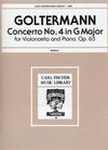 Carl Fischer Goltermann, G. (Schultz, Arr): Concerto No.4 Op.65 in G (cello & piano) Carl Fischer