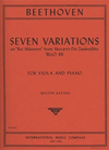 International Music Company Beethoven, L.Van: Seven Variations on Bei Mannern from Magic Flute (viola & piano)