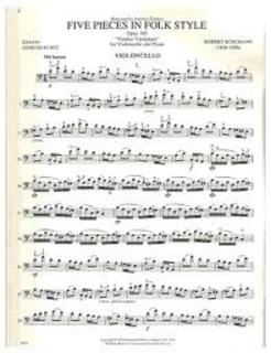 International Music Company Schumann, Robert (Kurtz): Five Pieces in Folk Style Op.102 (cello & piano)