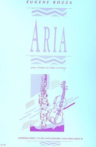 Bozza, E.: Aria (violin & piano)