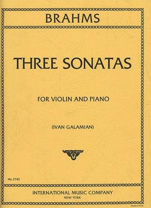 International Music Company Brahms: Three Sonatas (violin & piano)